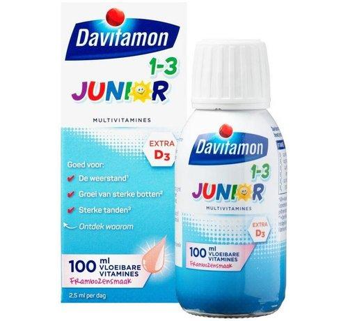 Davitamon Junior 1+ vloeibare vitamines framboos