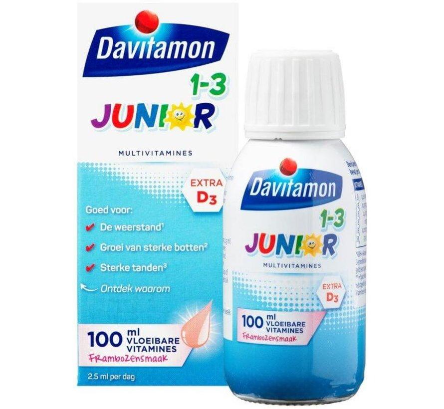 Junior 1+ vloeibare vitamines framboos