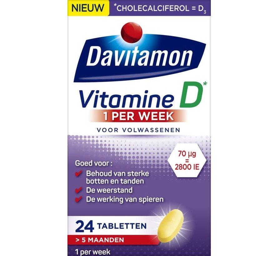 D 1 per week