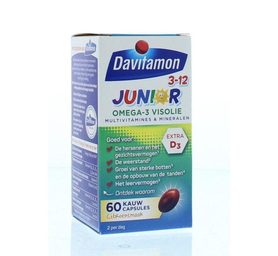 Junior 3+ Omega-3 Visolie Kauwcapsules Citroen