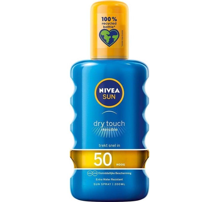 NIVEA SUN Dry Touch Transparante Zonnespray SPF 50 - 200 ml