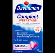 Davitamon Compleet Weerstand Met Vitamine C&D Multivitamine Bosvruchten 60 kauwtabl