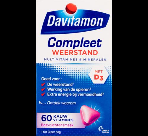 Davitamon Compleet weerstand kauwvitamines bosvruchten