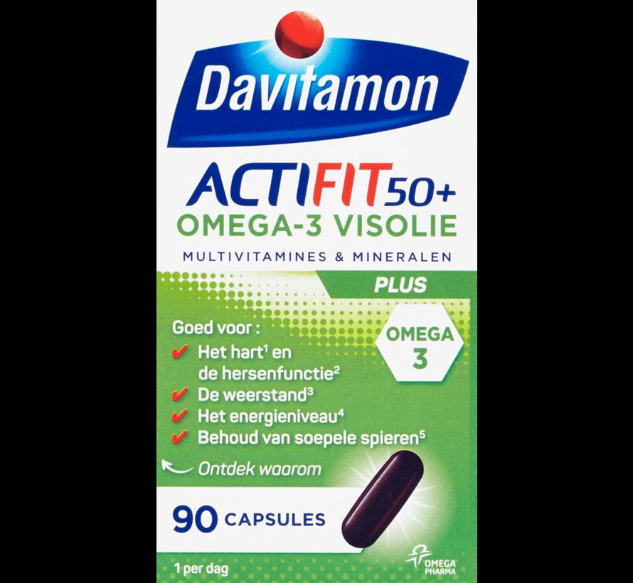 Actifit 50+ Omega-3 Visolie Capsules