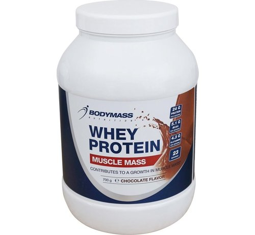 Bodymass Bodymass whey protein - Muscle mass - chocolate, 700 gram