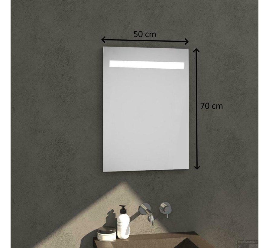 Badkamerspiegel met Verlichting - Wandspiegel 50x70x03 cm