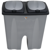 Dubbele vuil(nis)bak 2 x 25L recycling - afvalbak met 2 deksel