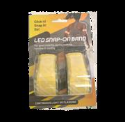 Led Klapband Set 2 | Led Sport Armband |Hardloop verlichting - Geel
