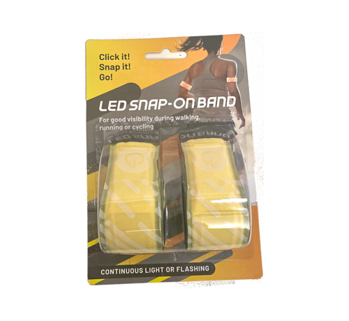 Led Klapband Set 2   Led Sport Armband  Hardloop verlichting - Geel