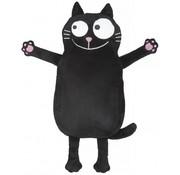 Moses kruik Ed, the cat 19 x 36 cm zwart