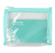 Sundaze toilettas 18,5 cm transparant/blauw