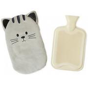 Balvi kruik Kitty 35,5 x 22 cm polyester/rubber grijs