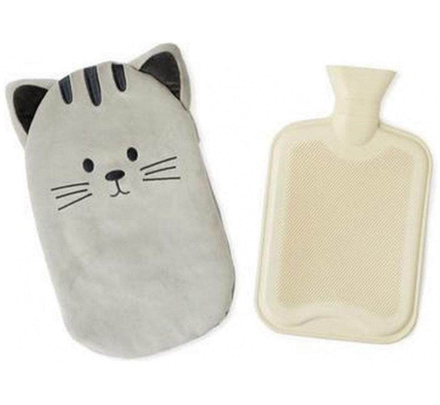kruik Kitty 35,5 x 22 cm polyester/rubber grijs