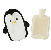 Balvi kruik pinguïn 35 x 29 cm polyester/rubber zwart/beige