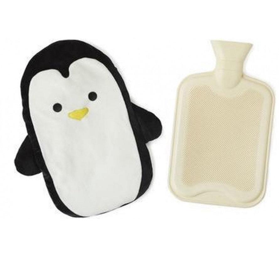 kruik pinguïn 35 x 29 cm polyester/rubber zwart/beige
