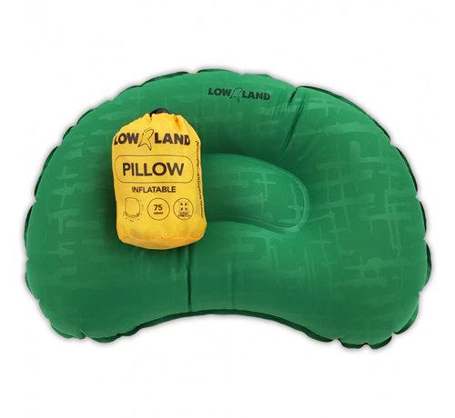 Lowland opblaaskussen Outdoor 45 x 30 x 10 cm nylon groen/geel
