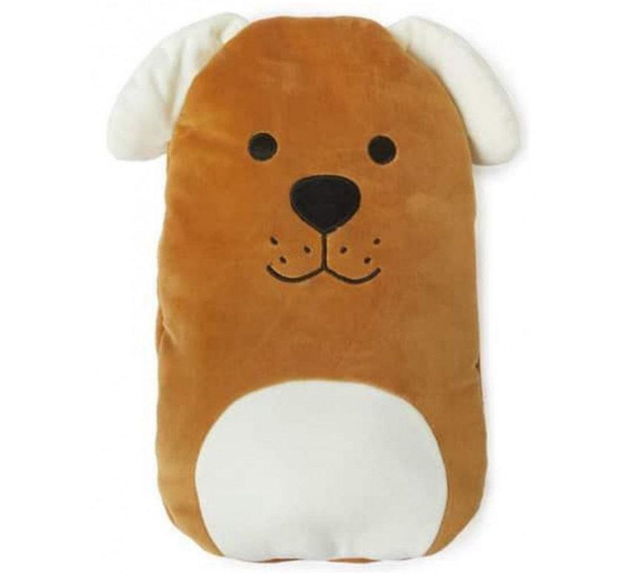 kruik hond 35 x 27 cm polyester/rubber bruin/beige