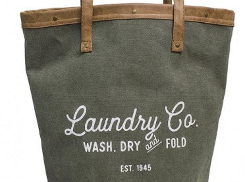 Balvi wasmand Vintage 35 liter 50 x 32 cm textiel groen/bruin