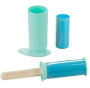 Balvi kledingroller 5,5 x 24 cm siliconen mintgroen/blauw 5-delig