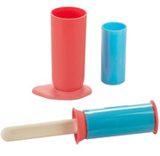 Balvi kledingroller 5,5 x 24 cm siliconen roze/blauw 5-delig