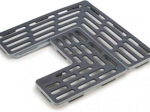 Joseph Joseph gootsteenmat Sink Saver 28,5 cm grijs 2-delig