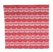 House of Seasons plaid 170 x 130 cm polyester rood/wit