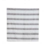 House of Seasons plaid strepen 170 x 130 cm polyester grijs/wit