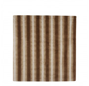 House of Seasons plaid strepen 170 x 130 cm polyester bruin/wit