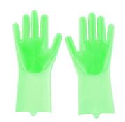 Lifetime Clean schoonmaakhandschoenen rubber groen 2 stuks