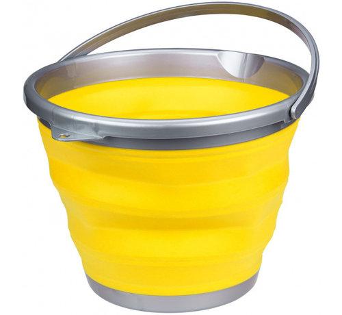 Abbey Camp emmer opvouwbaar 10 liter geel/grijs
