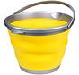 emmer opvouwbaar 10 liter geel/grijs