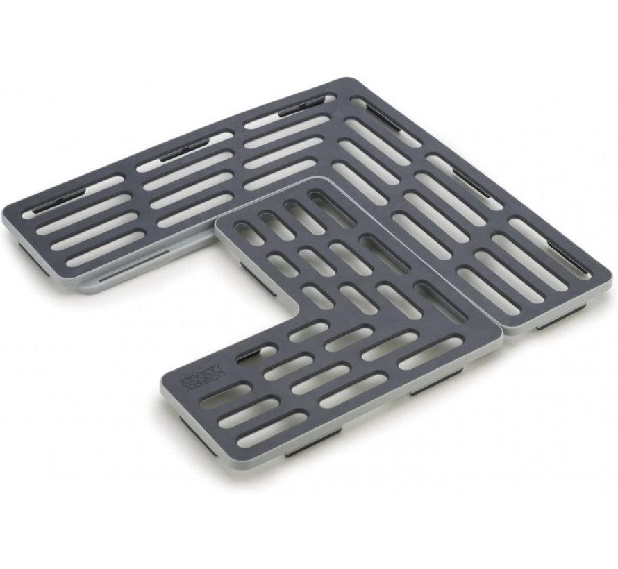 gootsteenmat Sink Saver 28,5 cm grijs 2-delig