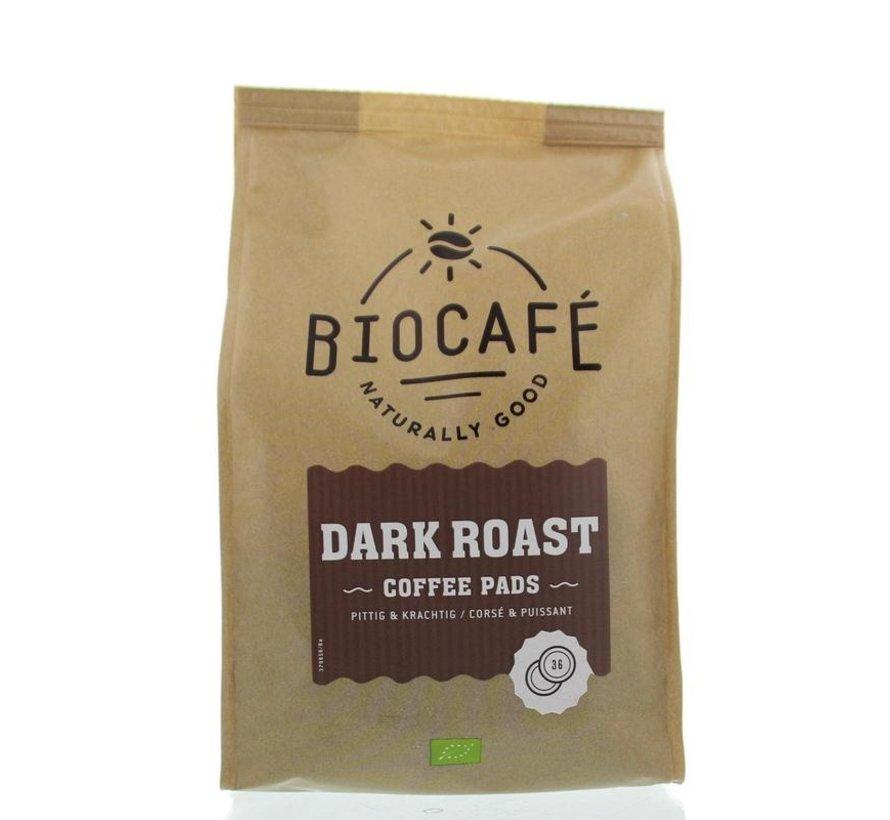 Coffee pads dark roast bio