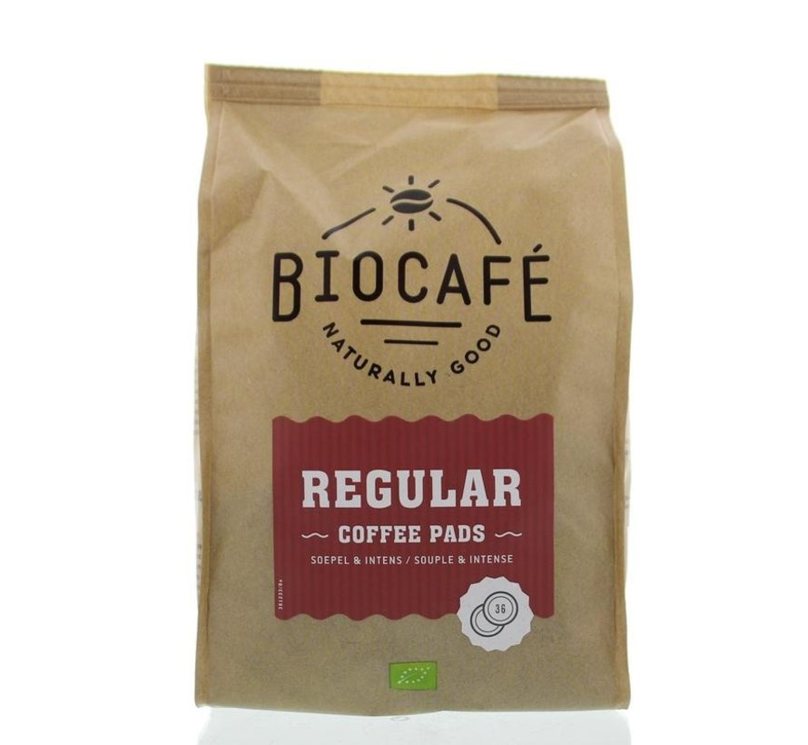 Coffee pads regular bio