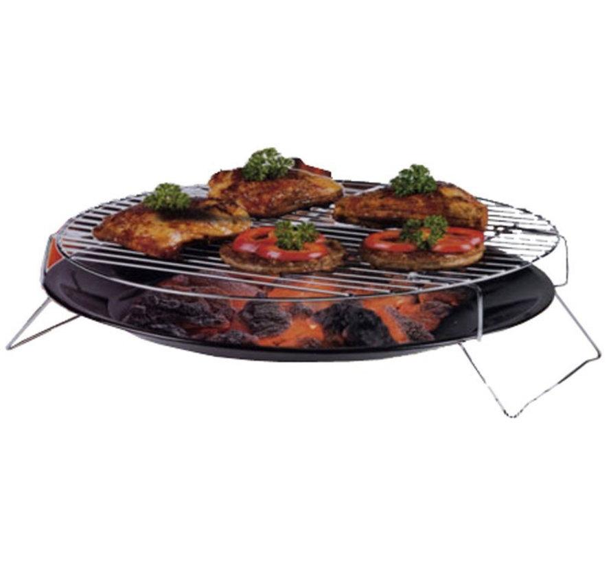 barbecueschaal 36 cm zwart