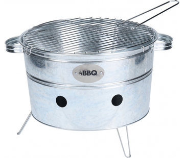 BBQ draagbare barbecue rond staal 38 x 20 cm