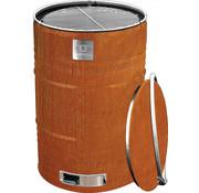 BarrelQ barbecue Notorious Big 87 x 57 cm cortenstaal roestbruin