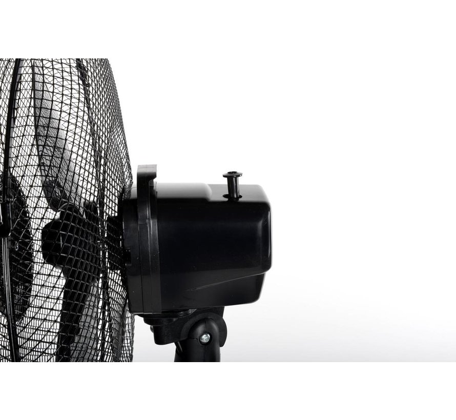 Lifetime Air Statiefventilator - Ø 40 cm - 42 W - 3 Snelheden - Zwenkfunctie - Zwart