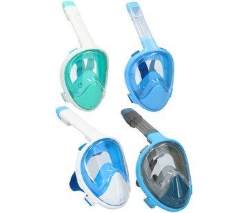 Snorkelmasker - Full Face - Volgelaatsmasker - 180 Graden Zicht - Ademen met Mond en Neus - Maat S-M Volwassenen
