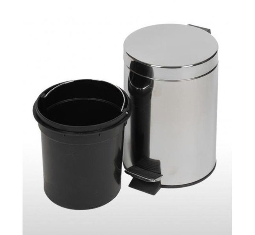 Pedaalemmer Chroom (3 liter)