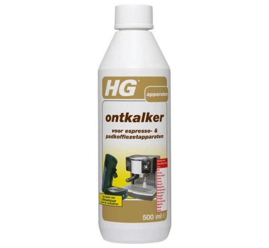 Hg Ontkalker Voor Koffiezetapparaten - Schoonmaakmiddelen - 500 ml