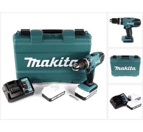 Speelgoed Makita HP457DWE Boor-/schroefmachine - 18V - Inclusief 2 Accu's en Lader