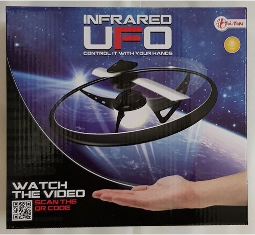 Speelgoed INFRARED UFO - MET LICHT - KLEUR WIT - BESTUUR MET JE HANDEN - DRONE