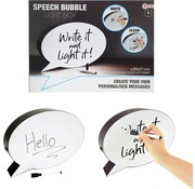 Speelgoed Toi-toys Lightbox Praatwolk Zwart/wit 30x21 Cm