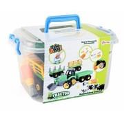 Speelgoed Toi-toys Tractor Met Aanhanger Diy Groen 45 Cm