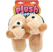Speelgoed PLUSH Pluchen pantofels slofen 'Hond' - t 28-30