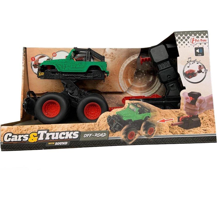 Monstertruck met Lanceerpistool - Groen