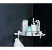 Alpina Alpina hoekrek - badkamer - bevestigen zonder boren - met 2 haken - wit