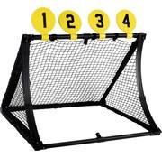 Dunlop Voetbaldoel - 4-in-1 - Met Voetbal, Pomp, Schietschijven en Haringen - 78 x 75 x 58 Cm