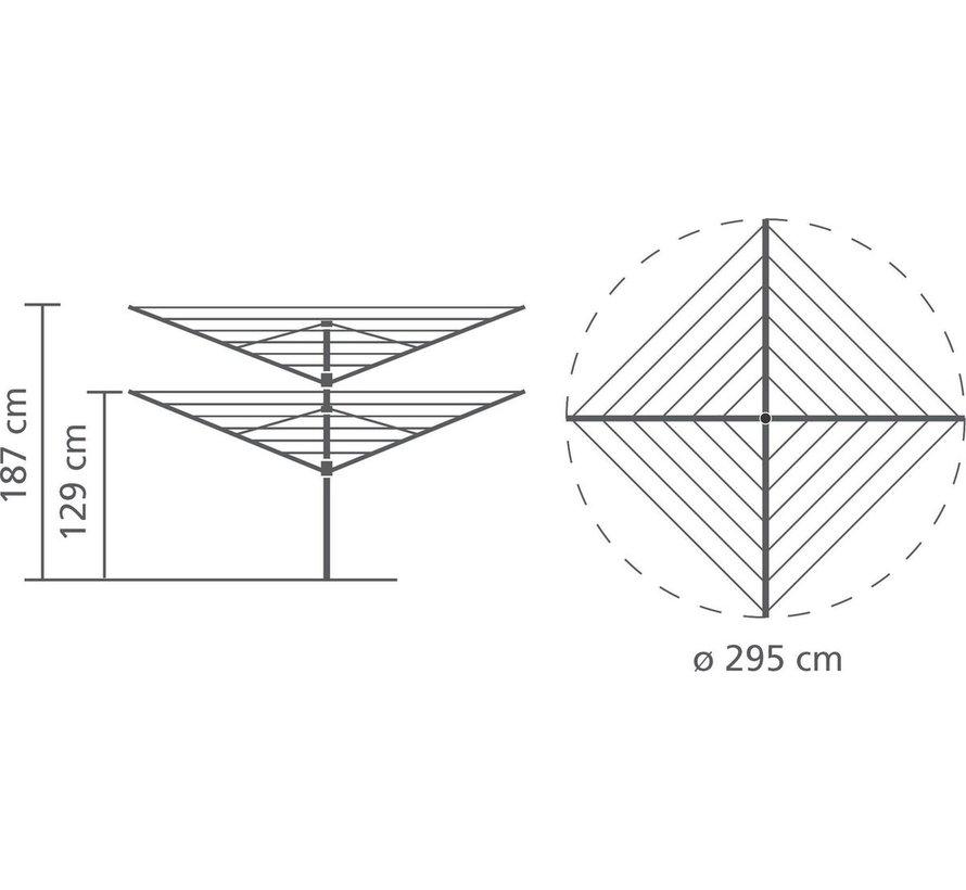 Brabantia droogmolen Lift-o-Matic 50mtr met metalen grondanker